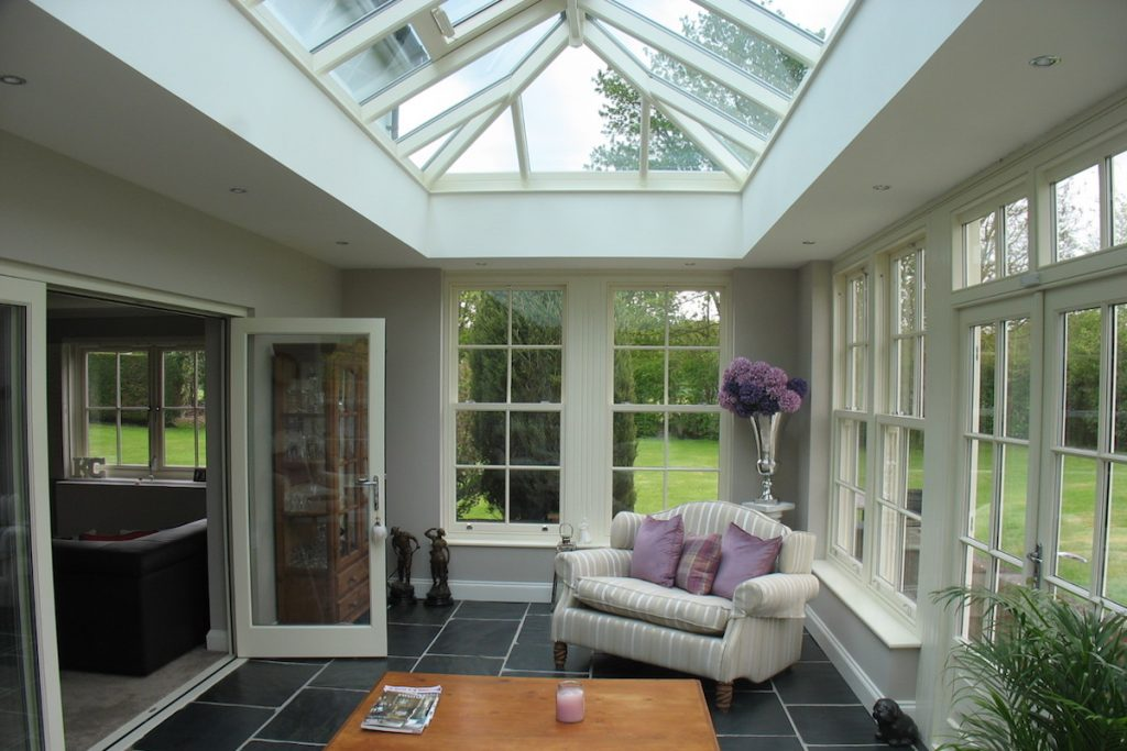 Rickling Green Orangery Sitting Room Interior