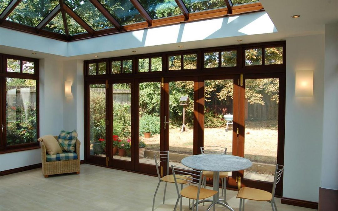Hardwood Orangery To Match Contemporary Great Shelford Home