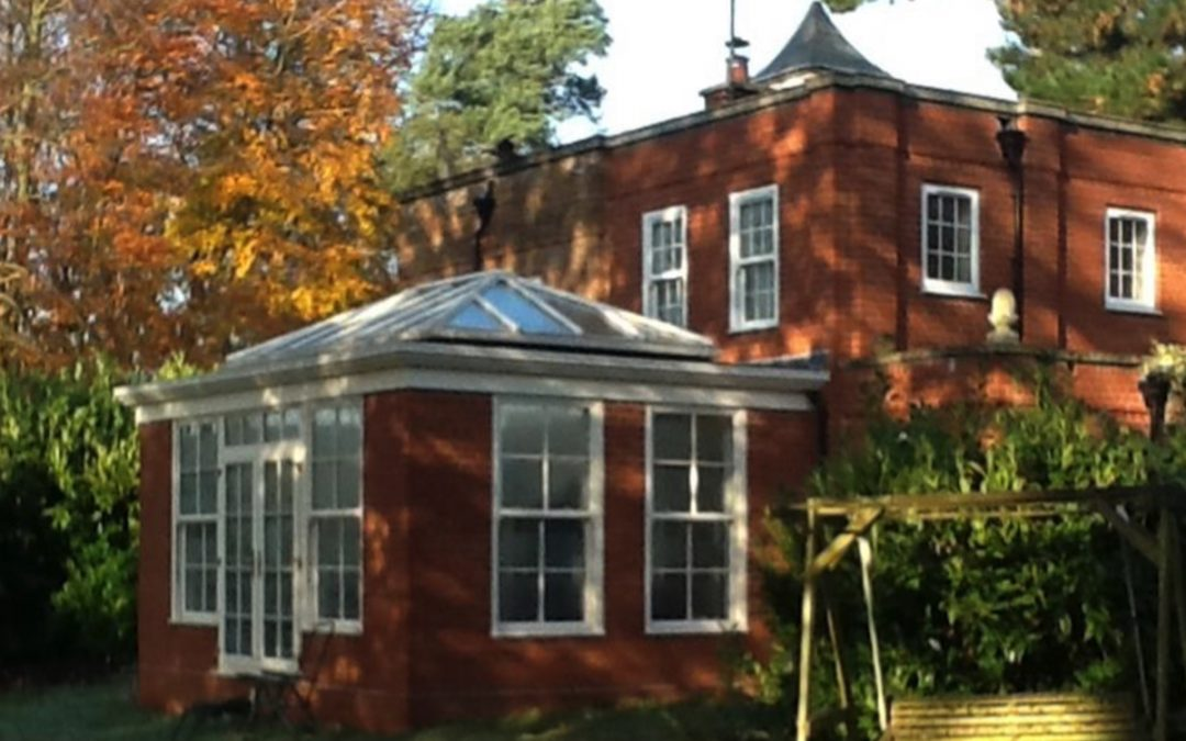 A New Suffolk Orangery Enhances Original Brick Beauty