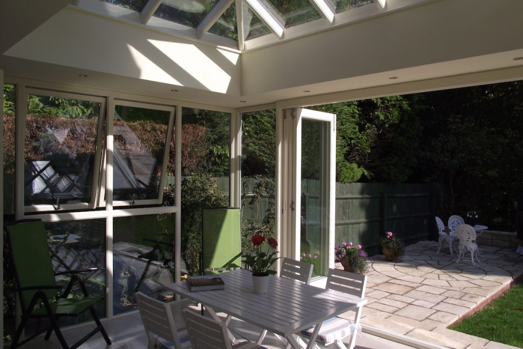 Contemporary Orangery with Folding Doors